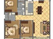 E户型三室两厅两卫125.42㎡