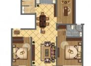B户型三室两厅两卫119.36㎡