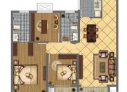 F户型三室两厅两卫112.60㎡
